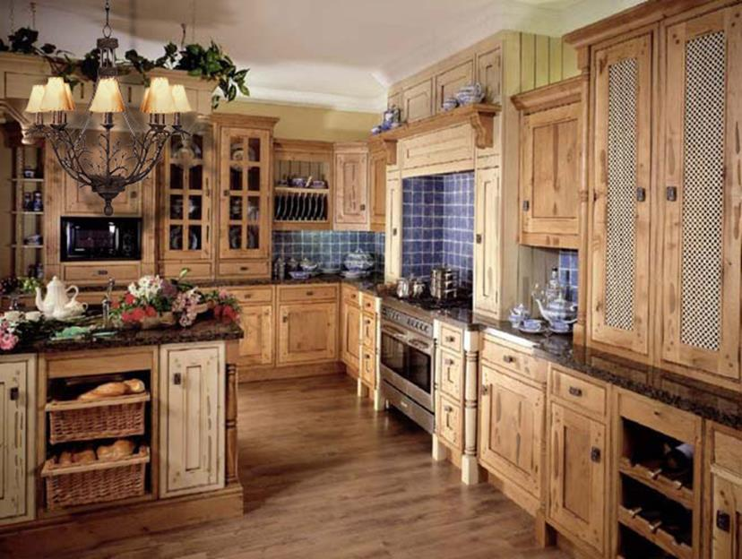 Country Style Kitchen Cabinets Design Ideas 7