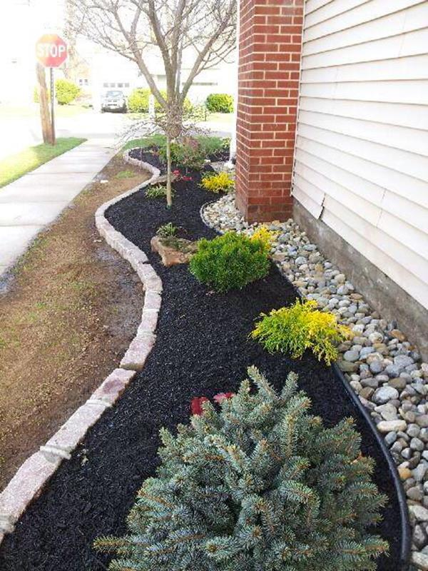 Landscaping Ideas With Mulch And Rocks 8