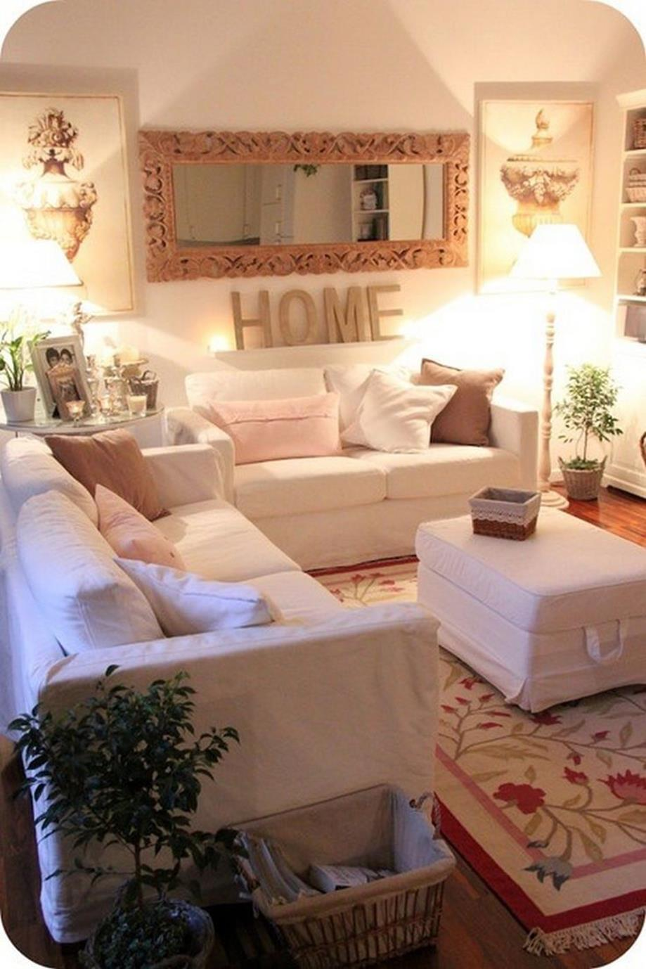 Shabby Chic Living Room Decorating on A Budget 14