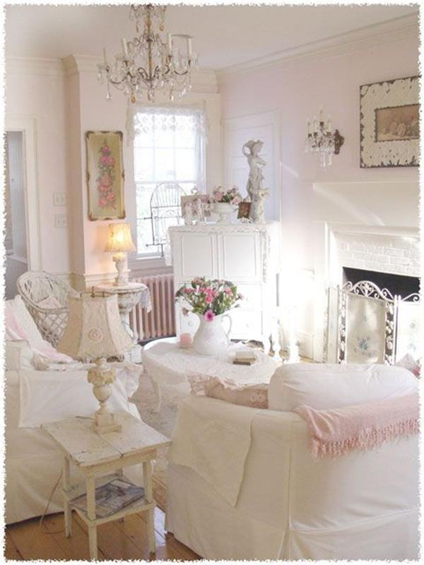 Shabby Chic Living Room Decorating on A Budget 7
