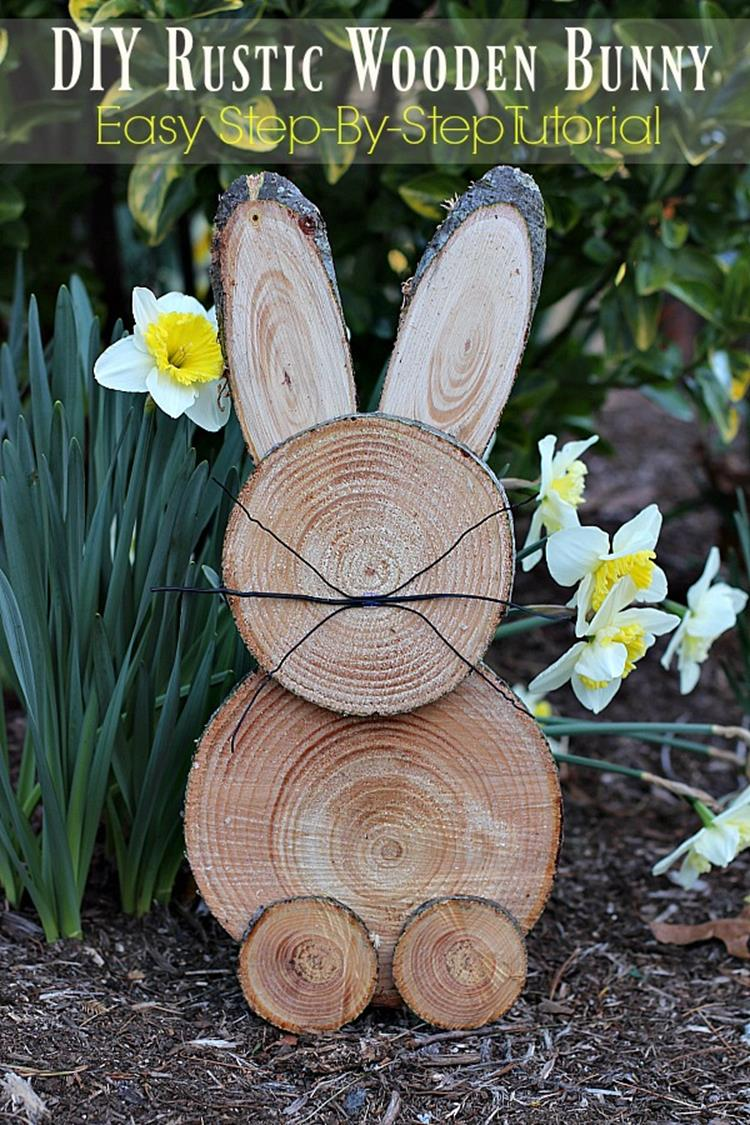 Cute Wooden Easter Decorations for the Outside 10
