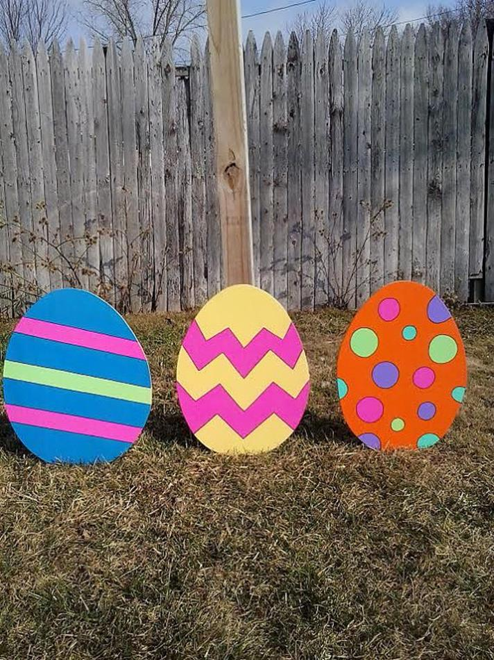 Cute Wooden Easter Decorations for the Outside 29
