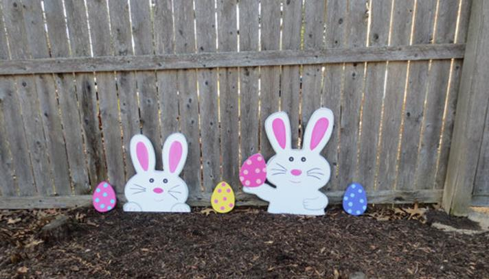 Cute Wooden Easter Decorations for the Outside 30