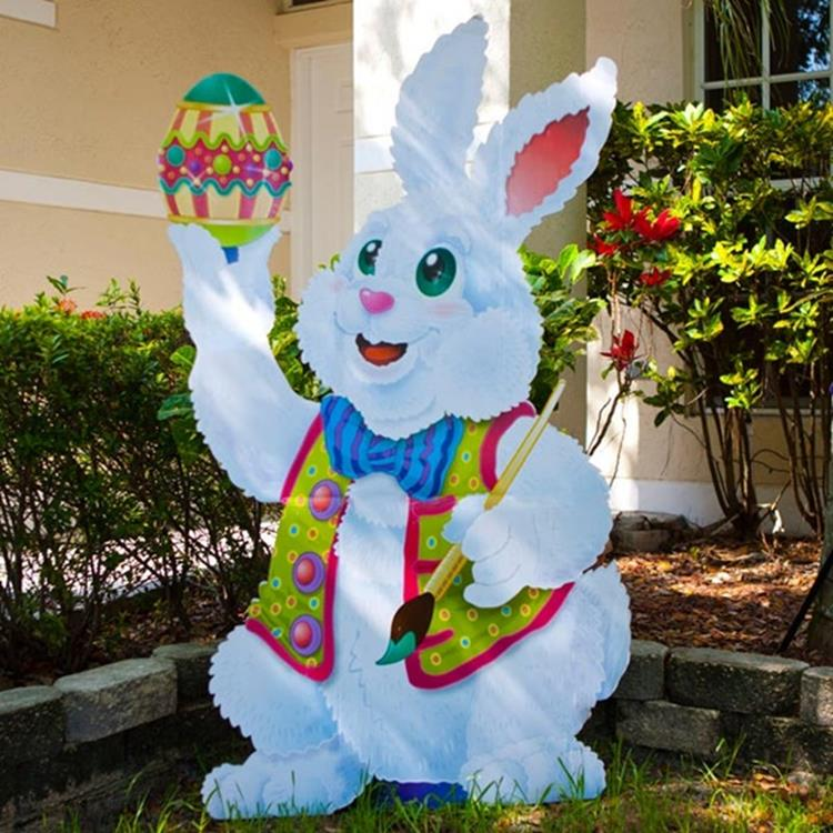 Cute Wooden Easter Decorations for the Outside 37