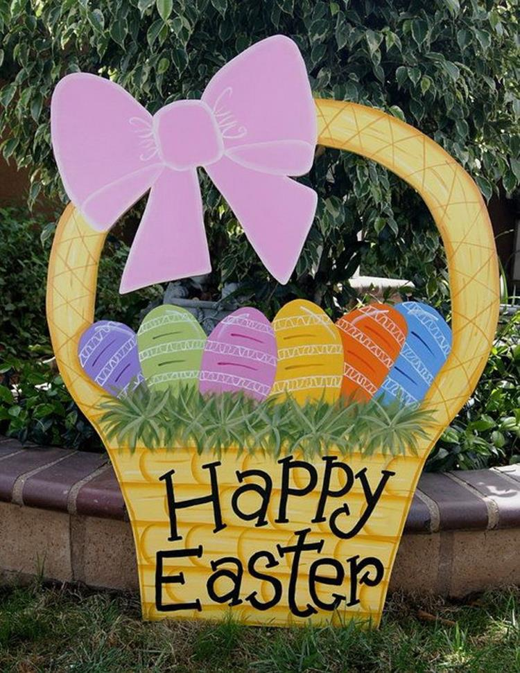 Cute Wooden Easter Decorations for the Outside 4