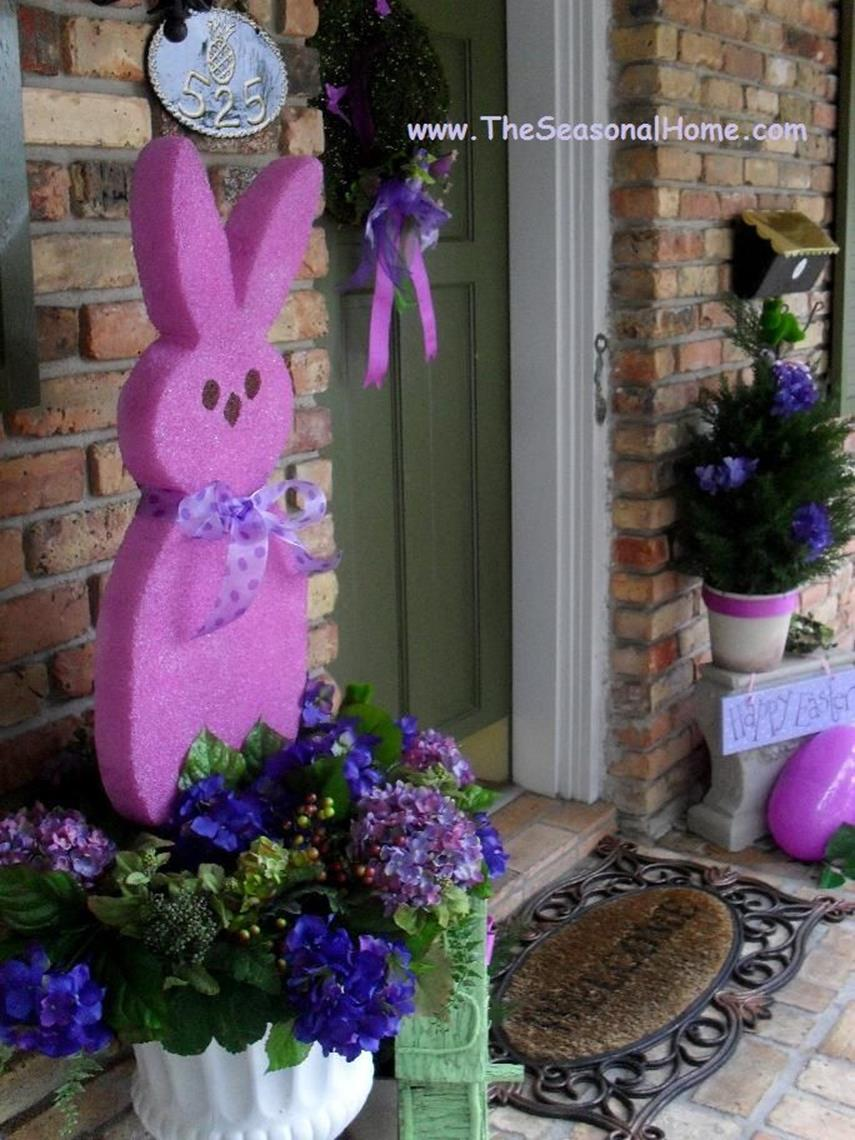 Cute Wooden Easter Decorations for the Outside 9