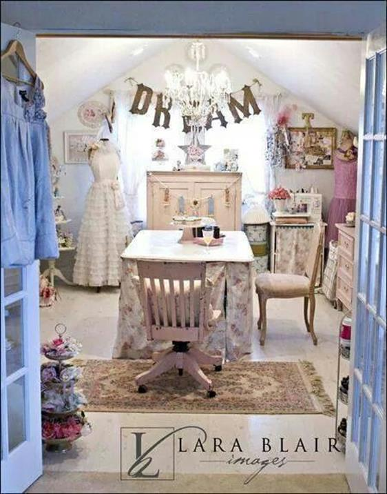 Inexpensive Shabby Chic Craft Table Ideas 11