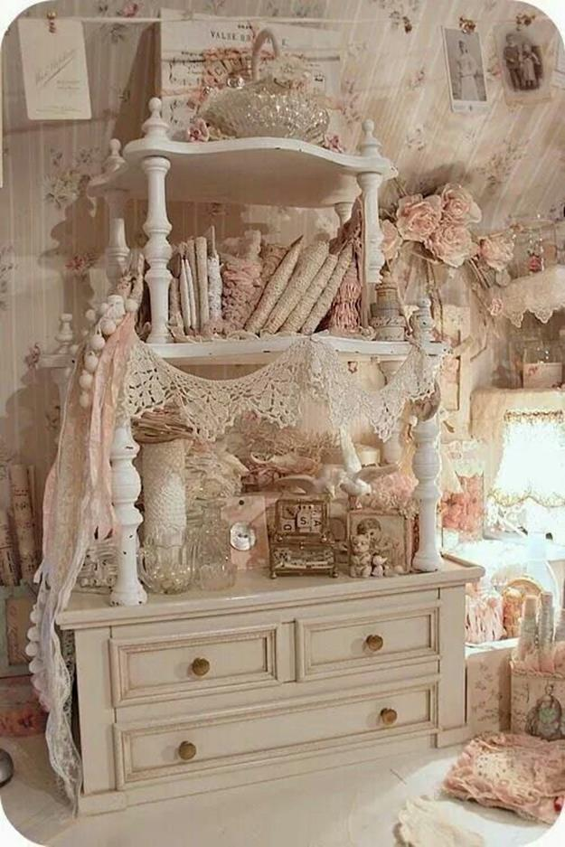 Inexpensive Shabby Chic Craft Table Ideas 12