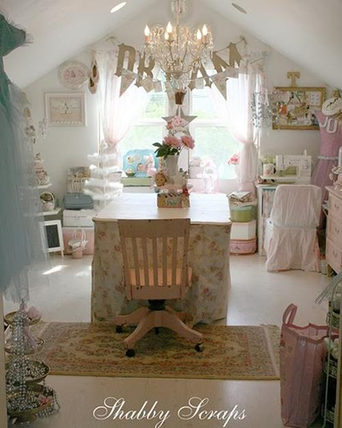 Inexpensive Shabby Chic Craft Table Ideas 28