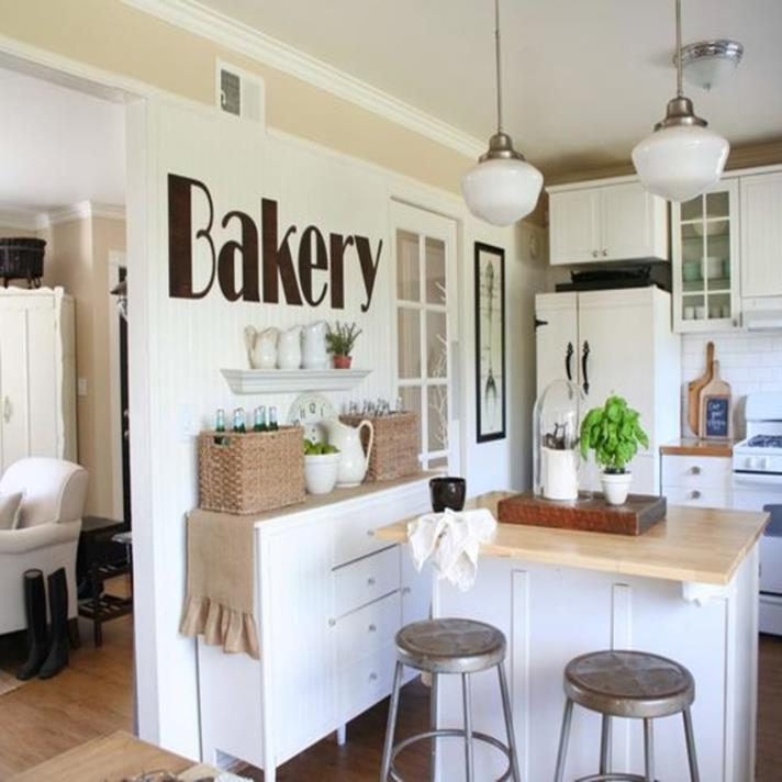 Shabby Chic Kitchen Wall Decorating Ideas 35