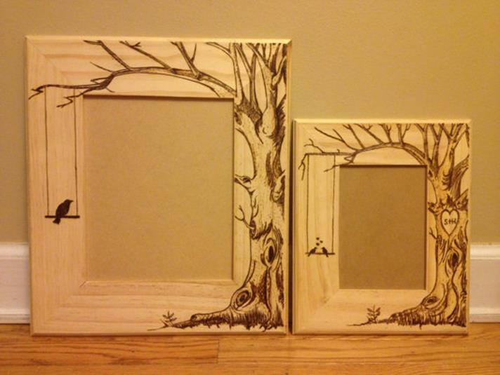Wooden Picture Frame Decorating Ideas 27