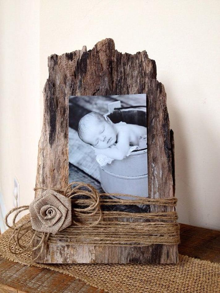 Wooden Picture Frame Decorating Ideas 9