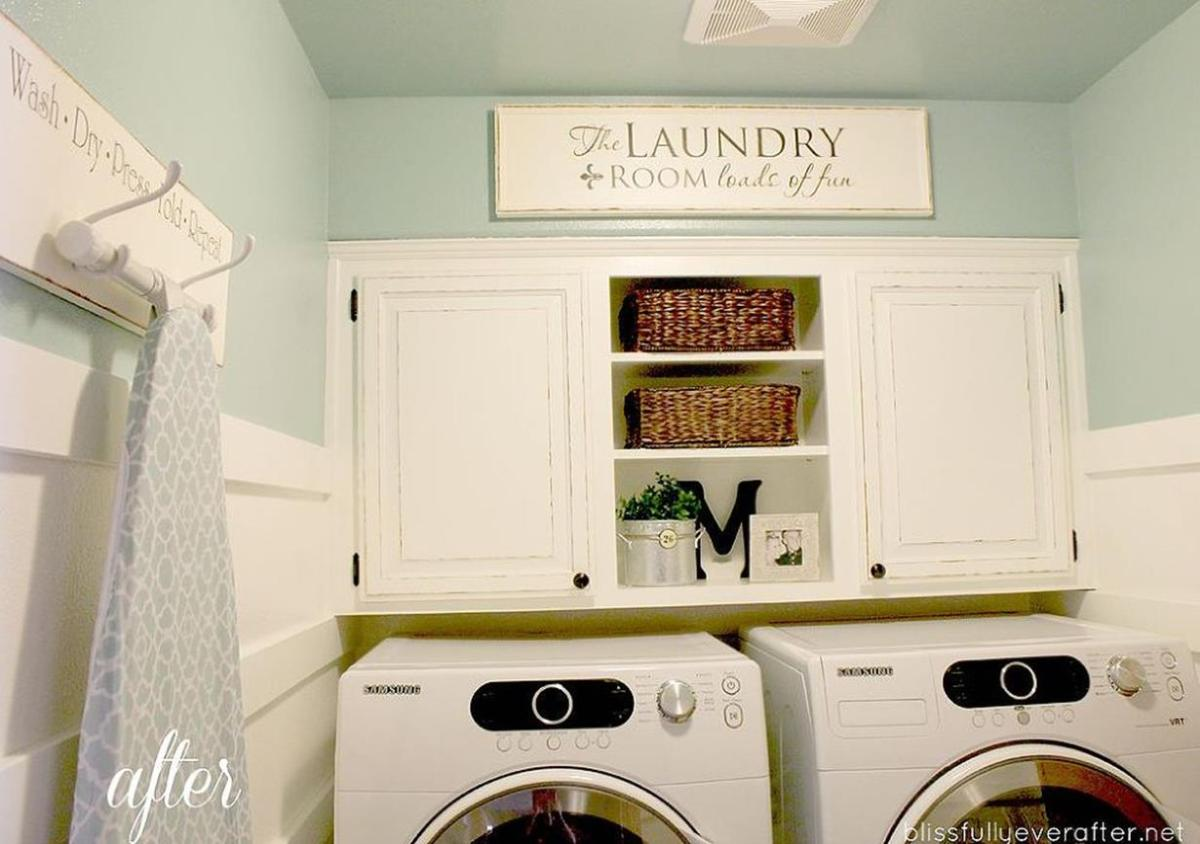 DIY Small Laundry Room Makeovers On a Budget 1
