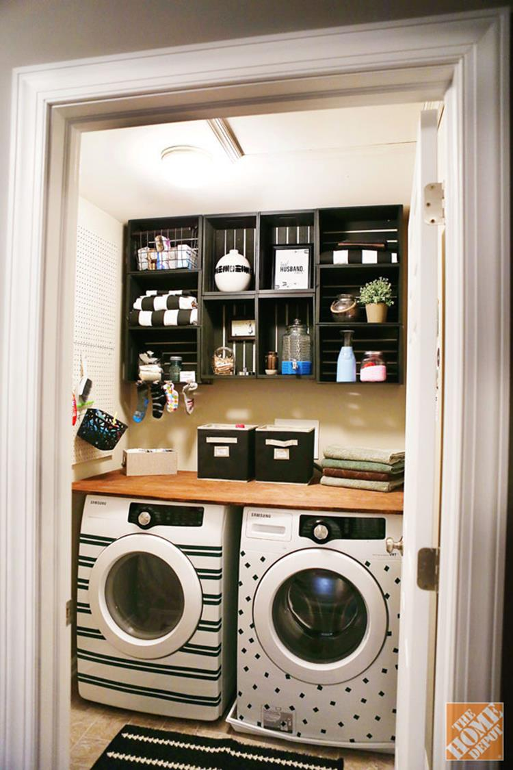 DIY Small Laundry Room Makeovers On a Budget 12