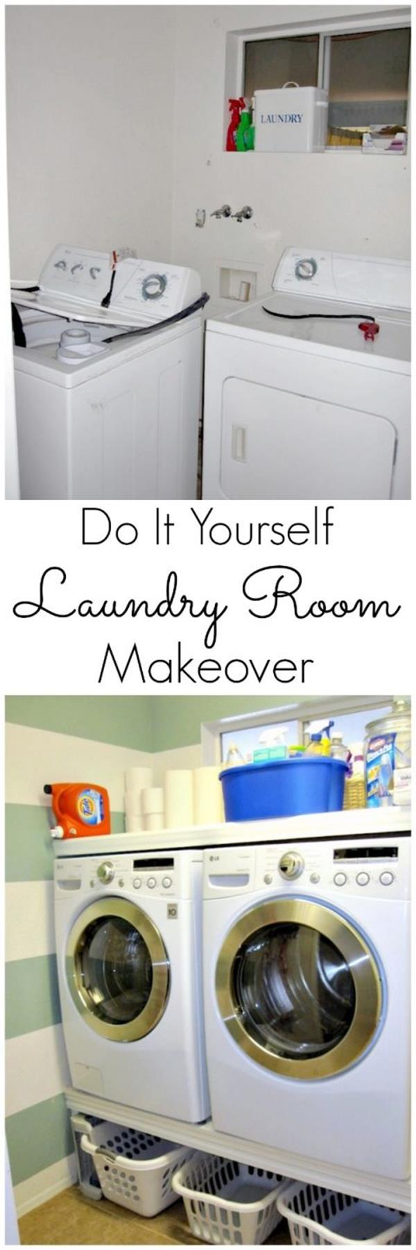 DIY Small Laundry Room Makeovers On a Budget 21