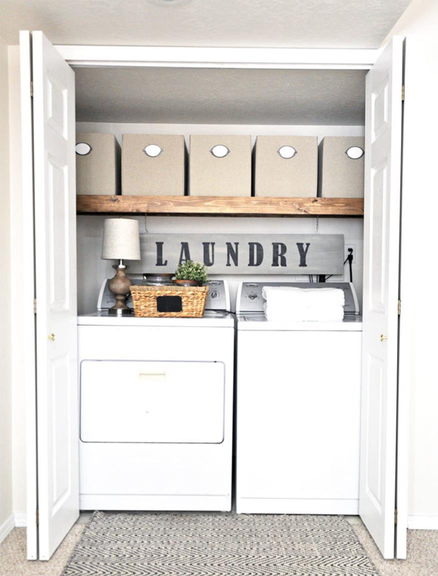 DIY Small Laundry Room Makeovers On a Budget 31