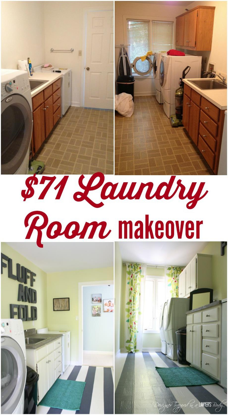 DIY Small Laundry Room Makeovers On a Budget 33