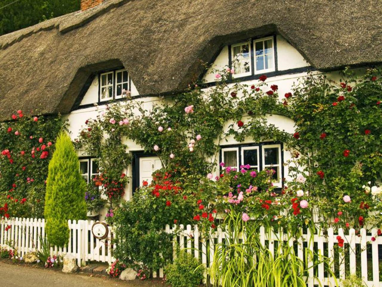 Stunning Country Cottage Gardens Ideas 8
