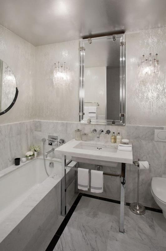 Stunning Gray Bathrooms with Accent Color Ideas 28