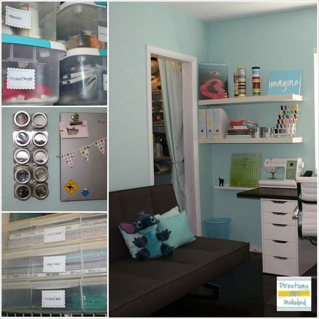 Craft Room Wall Shelving 76 Craft Room Simple Spacious and All Diy On the Cheap 5