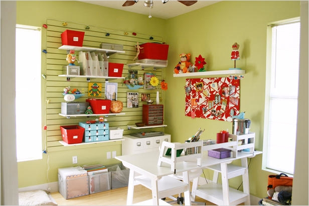 Craft Room Wall Shelving 55 Craft and Sewing Room Storage and organization 6