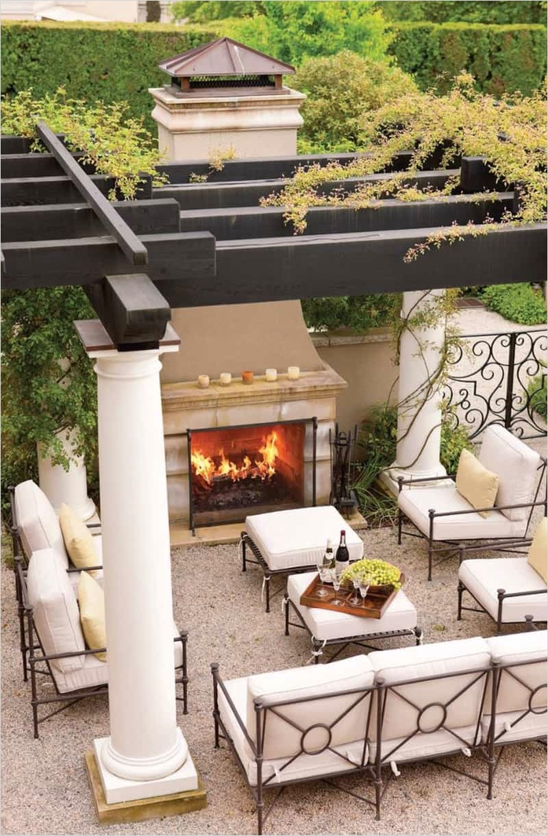 42 Cozy Small Outdoor Living Spaces 98 30 Lovely Mediterranean Outdoor Spaces Designs 4