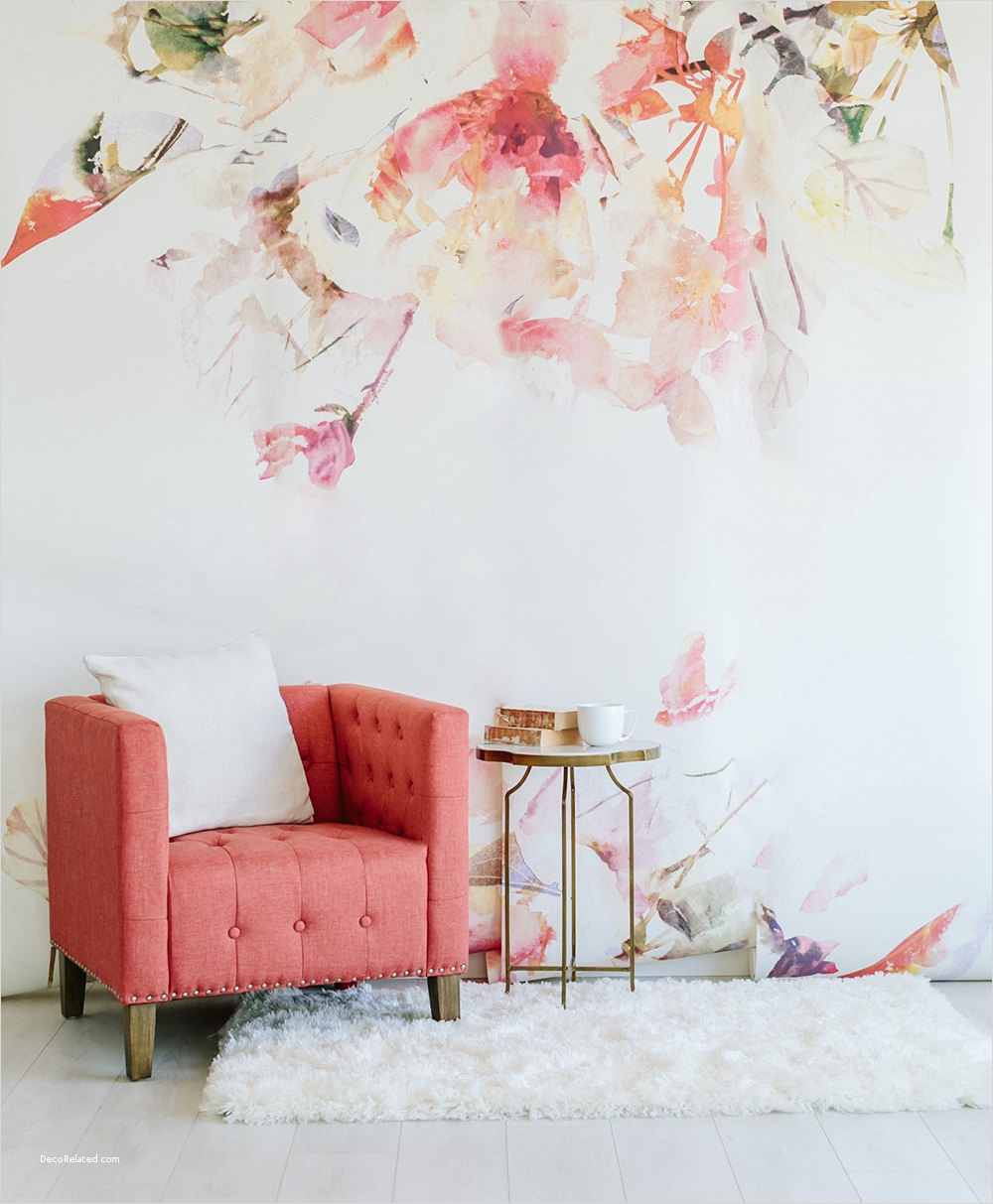 Spring Floral Bedroom Decor 94 Spring Floral Wall Mural Watercolor Wallpaper 7