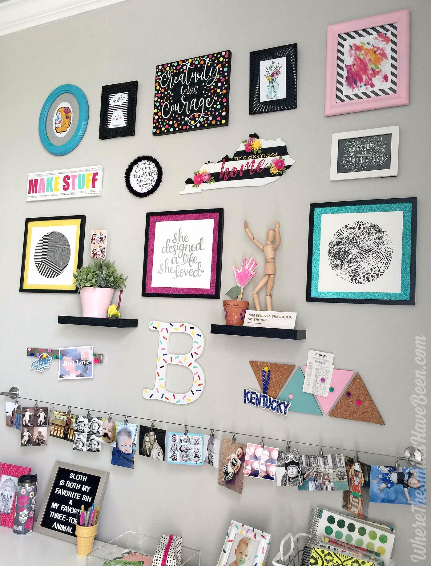 42 Amazing Diy Craft Room Gallery Wall 77 Colorful Craft Room Gallery Wall $100 Erin Condren Giveaway 6