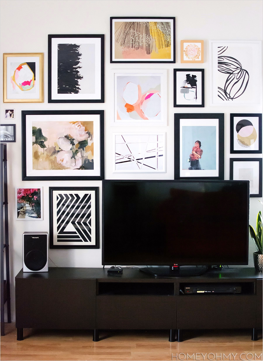 42 Amazing Diy Craft Room Gallery Wall 91 How to Plan and Hang A Gallery Wall 9