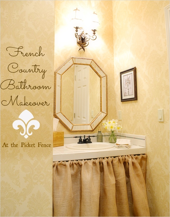 40 Stunning French Country Small Bathroom 37 French Country Bathroom Makeover at the Picket Fence 1