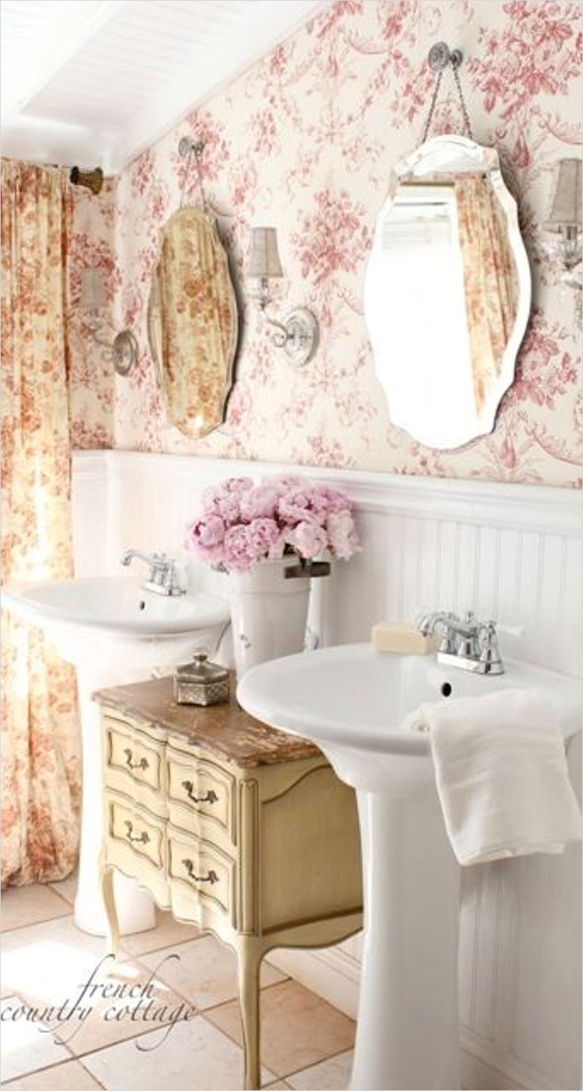 40 Stunning French Country Small Bathroom 65 Add Glamour with Small Vintage Bathroom Ideas 2