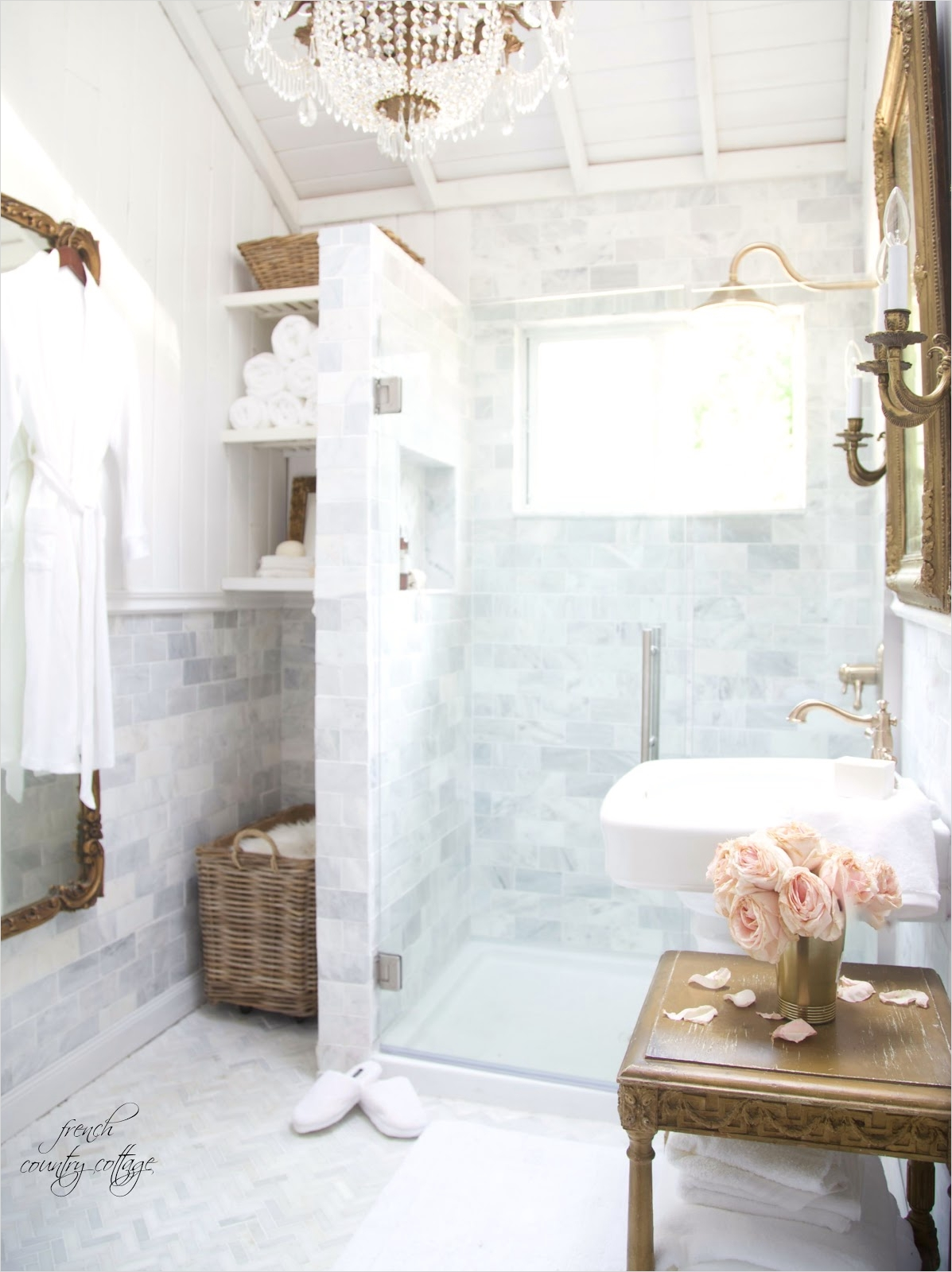 40 Stunning French Country Small Bathroom 14 French Cottage Bathroom Renovation Reveal French Country Cottage 1