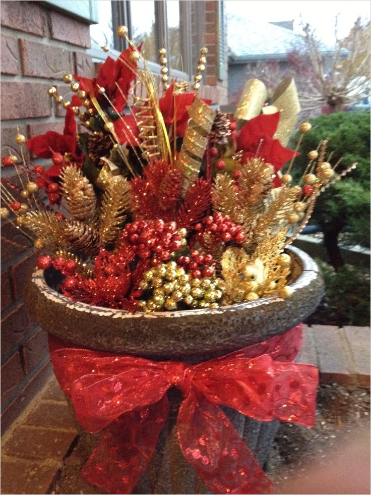 42 Beautiful Christmas Outdoor Pot Decorations Ideas 14 368 Best Images About Church Decorating Ideas On Pinterest 1