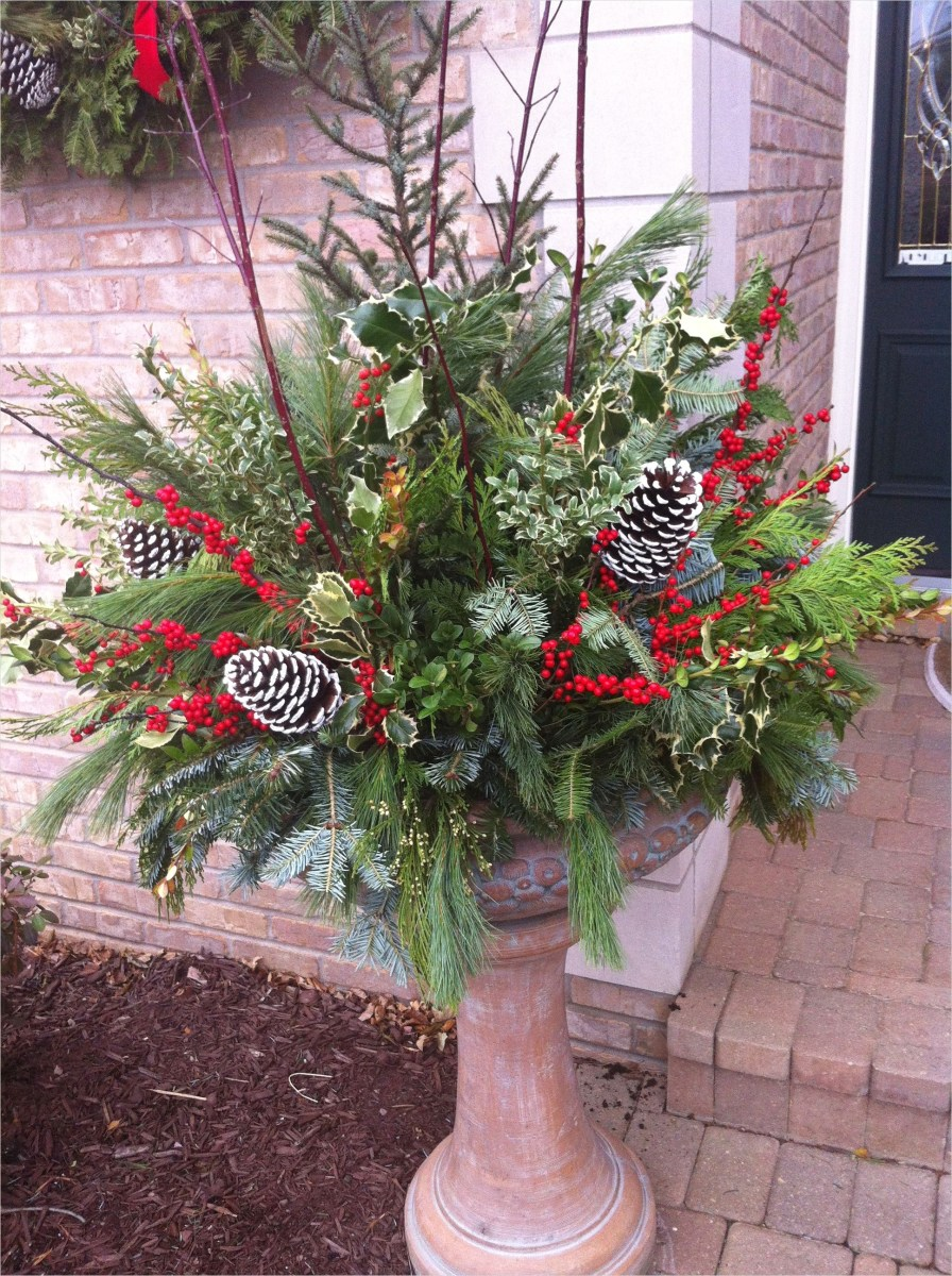 42 Beautiful Christmas Outdoor Pot Decorations Ideas 35 Our House Porch Pot 1936×2592 Christmas Pinterest 2