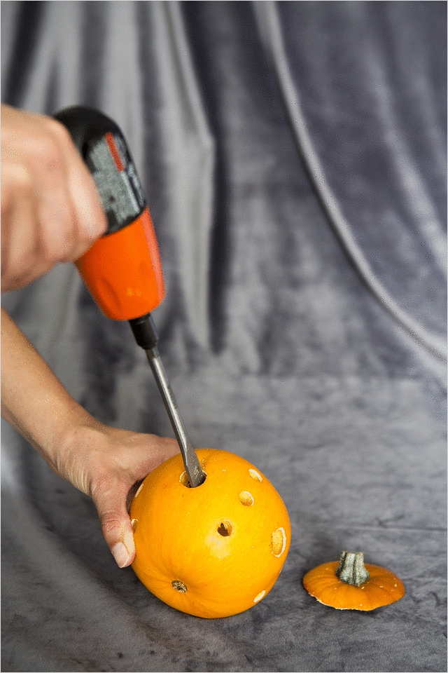40 Simple Pumpkin Carving with Drill Ideas 47 Easy Pumpkin Carving Ideas for Halloween Snippet & Ink 9