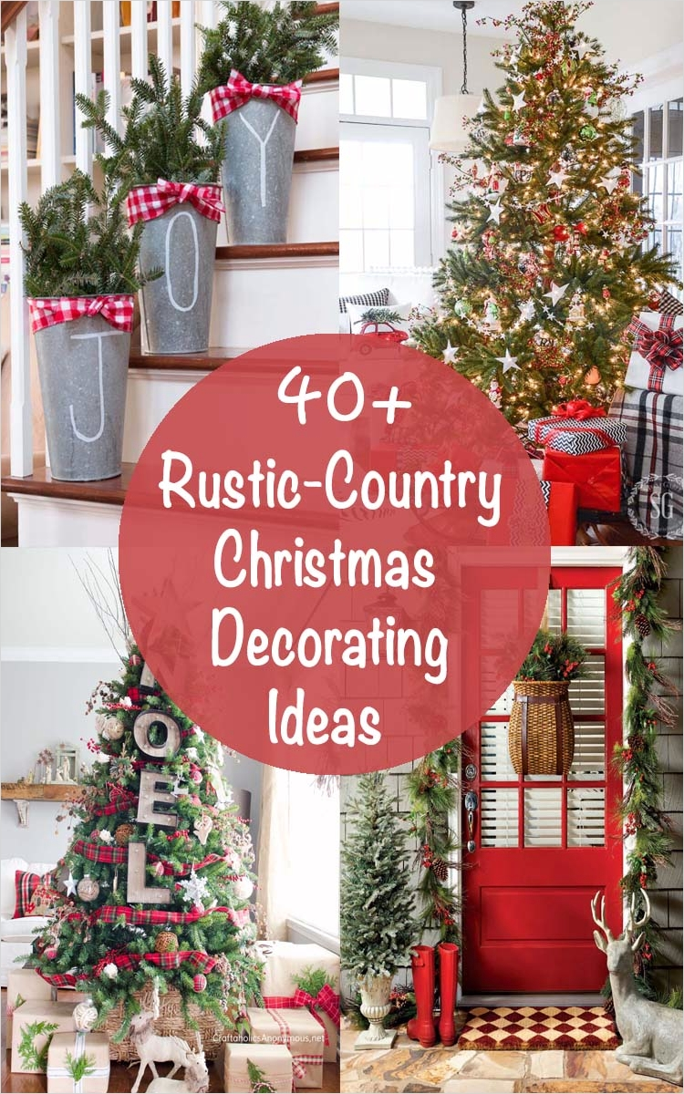 42 Stunning Country Christmas Centerpieces Ideas Ideas 32 40 Fabulous Rustic Country Christmas Decorating Ideas 1