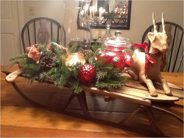 42 Stunning Country Christmas Centerpieces Ideas Ideas 97 Christmas Open House Holiday Decorating Traditional Dining Room Boston by New England 5