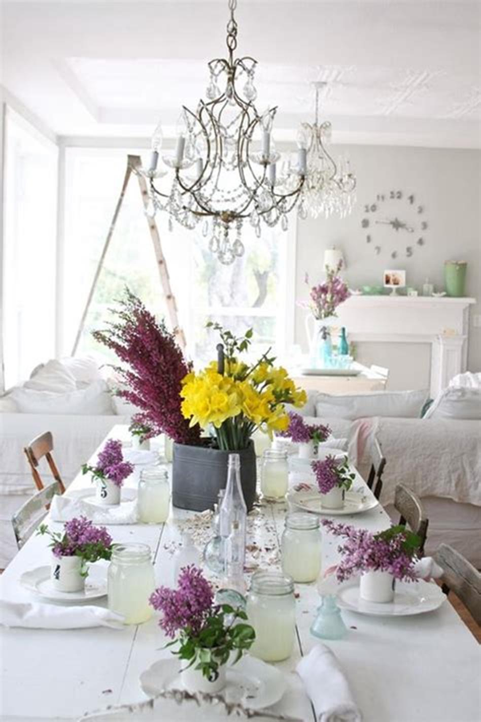 35 Stunning Spring Kitchen and Dining Room Decorating Ideas 2019 14