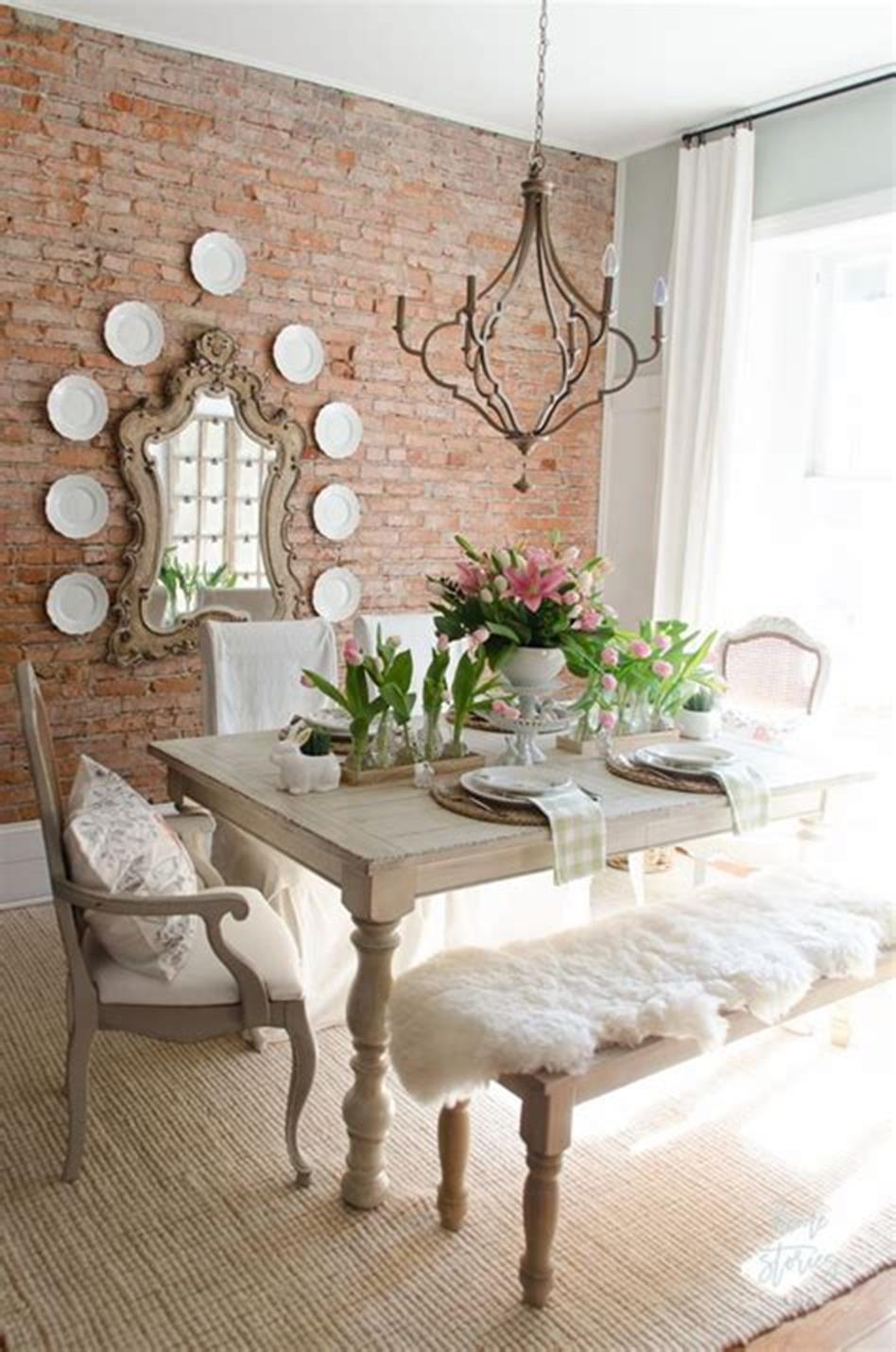 35 Stunning Spring Kitchen and Dining Room Decorating Ideas 2019 25