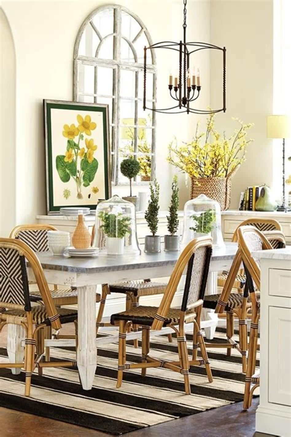 35 Stunning Spring Kitchen and Dining Room Decorating Ideas 2019 32