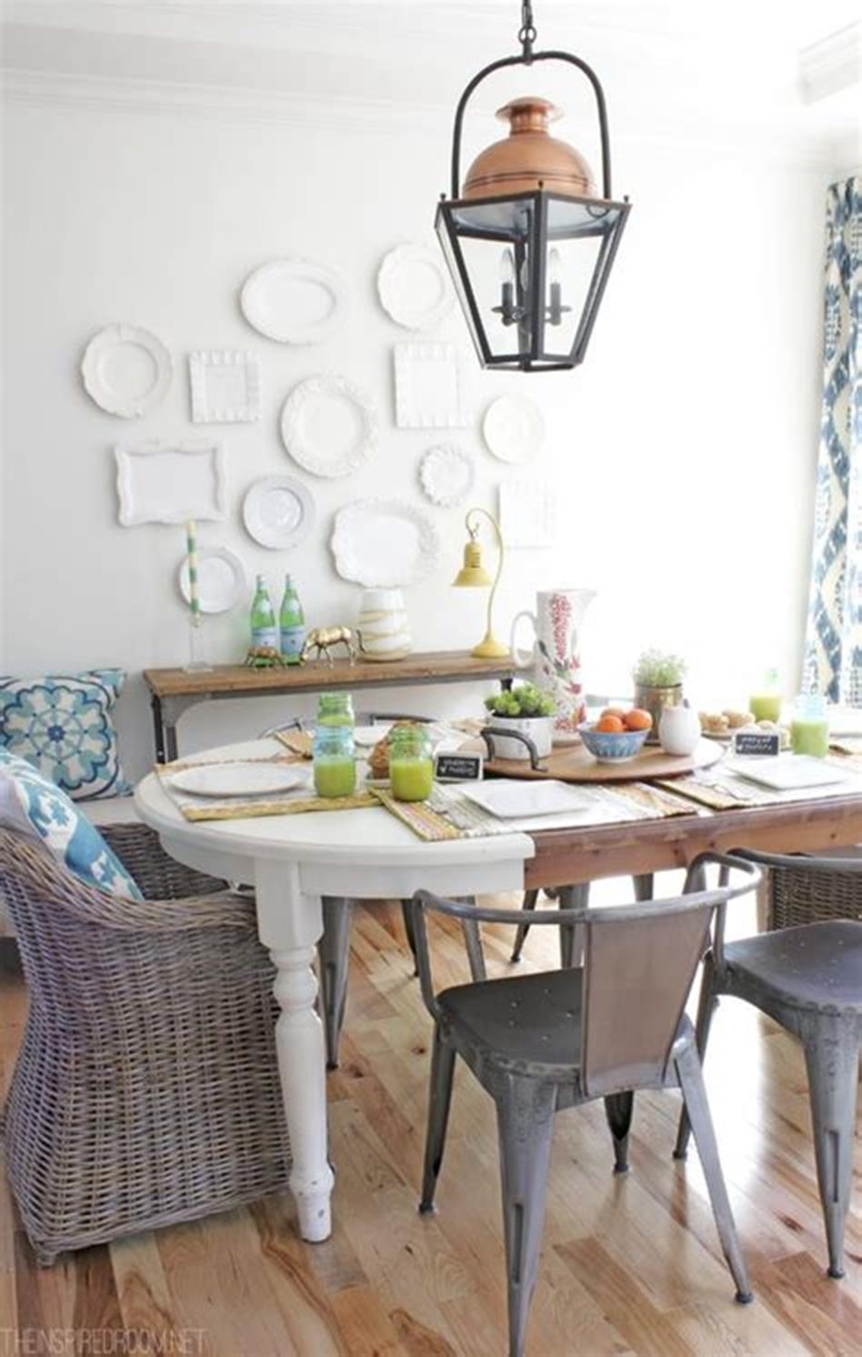 35 Stunning Spring Kitchen and Dining Room Decorating Ideas 2019 38