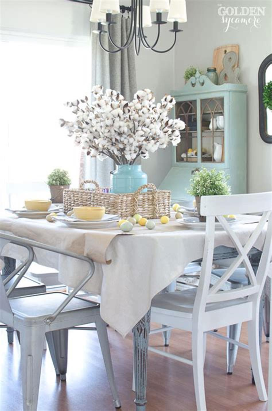 35 Stunning Spring Kitchen and Dining Room Decorating Ideas 2019 44