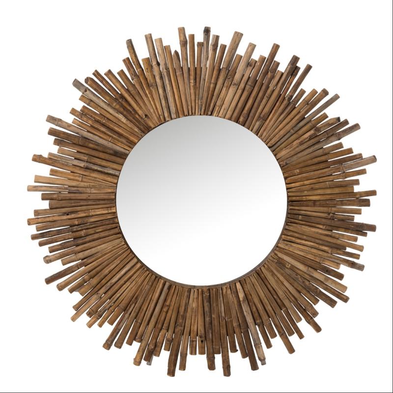 Miroir Rond Bambou 120 Cm Decorelie