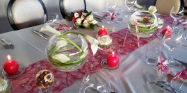 Centre de table de la table des mariés