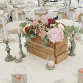 Décoration et création florale pour la table d'honneur