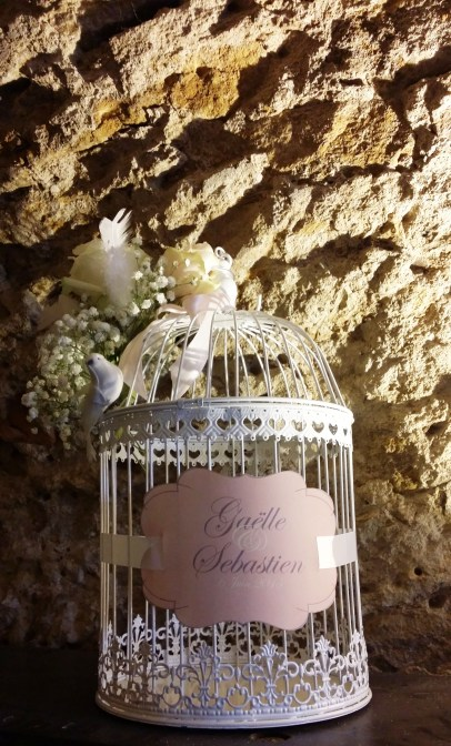 Décoration de la cage à oiseau urne de mariage