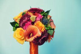 Bouquet de mariée automnal et coloré