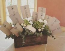 Plan de table champêtre et fleuri