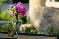 Bouquet coloré de pivoine et dahlia
