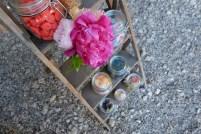 fleurs et bonbons - Détail du candy bar